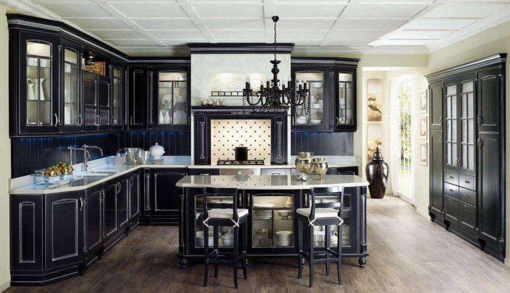 Классическая кухня черного цвета