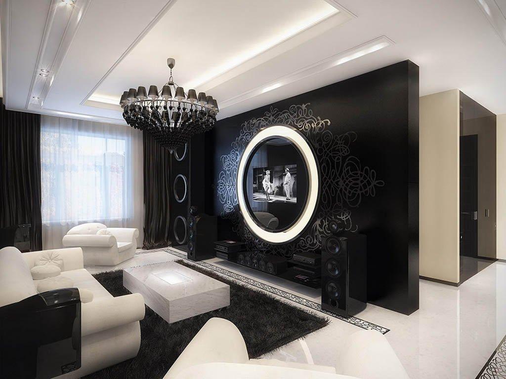 Оригинальный декор гостиной