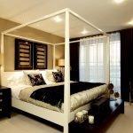 Черно-пастельная спальня