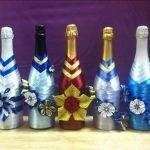 Цветы на бутылках