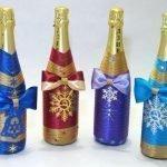 Снежинки на бутылках
