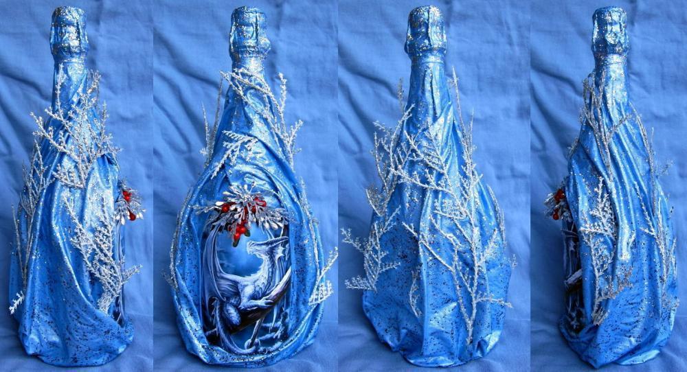 Бутылка с рельефом