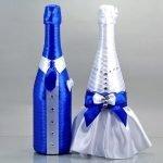 Свадебные наряды на бутылках