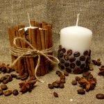 Декор из корицы и зерен
