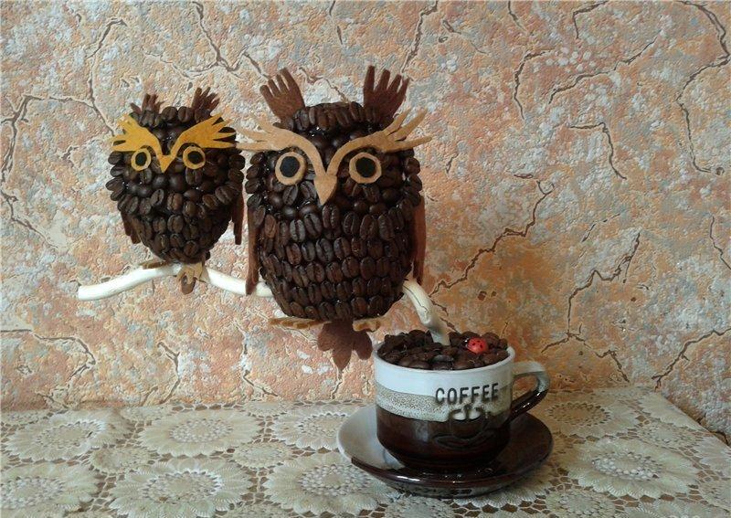 Животные из кофейных зерен