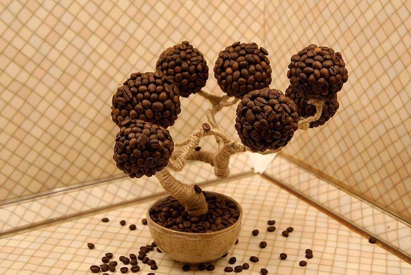 Дерево счастья их кофейных зерен