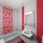 Зеркало с полочкой в ванной