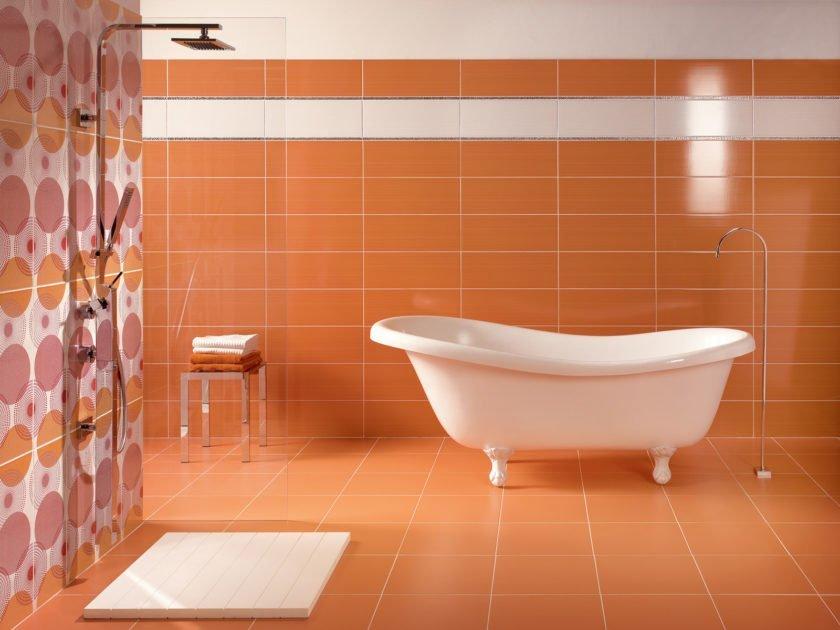 Рядная укладка плитки в ванной