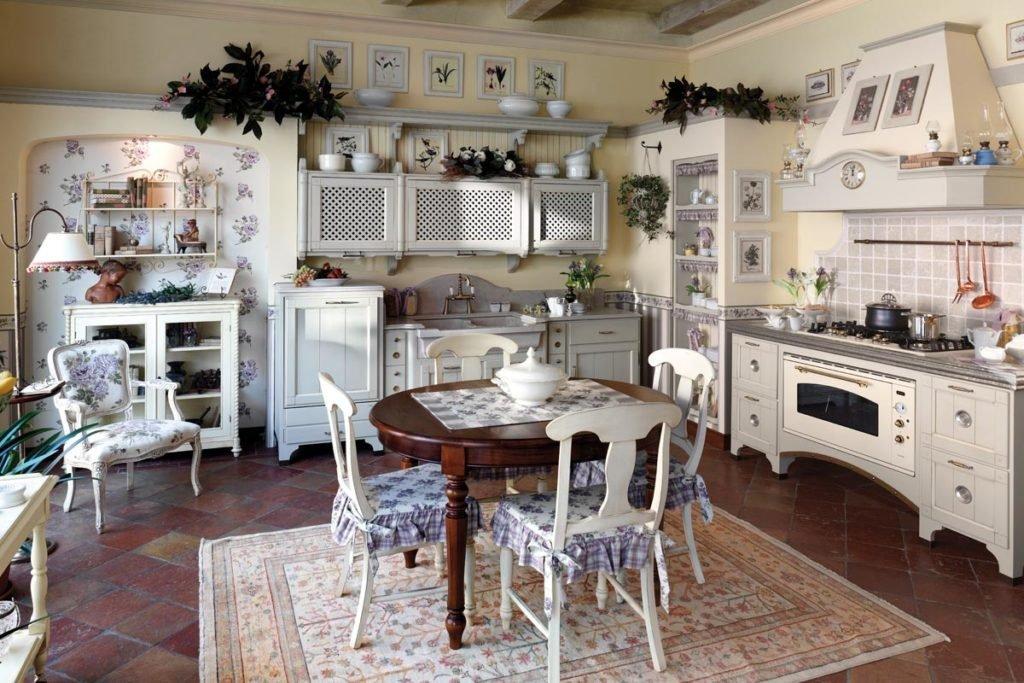 Винтажный интерьер кухни