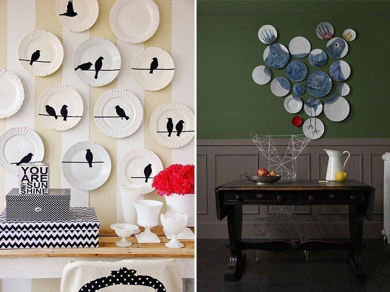 Дизайнерское оформление декоративных тарелок