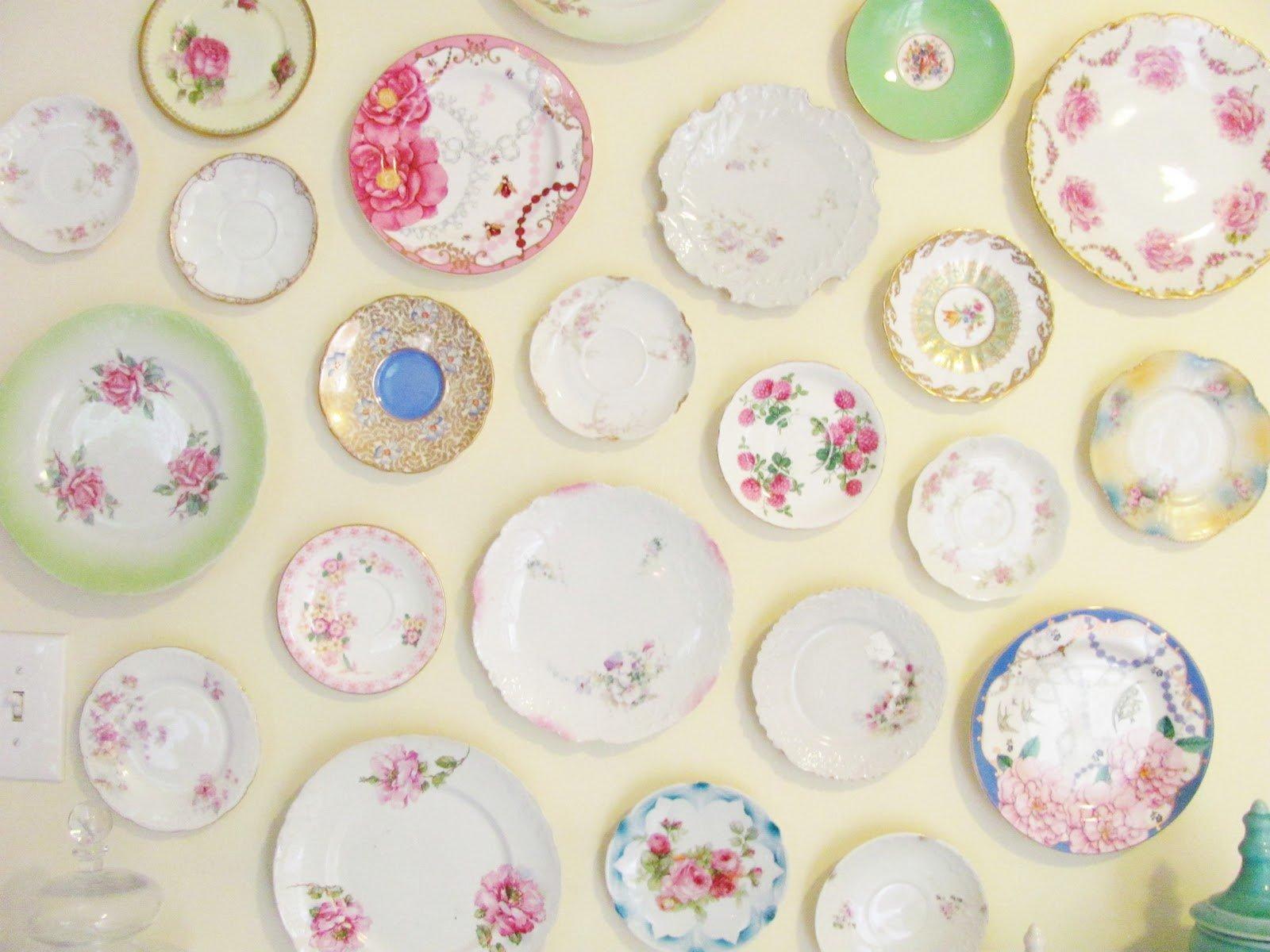 Винтажные тарелки для стены