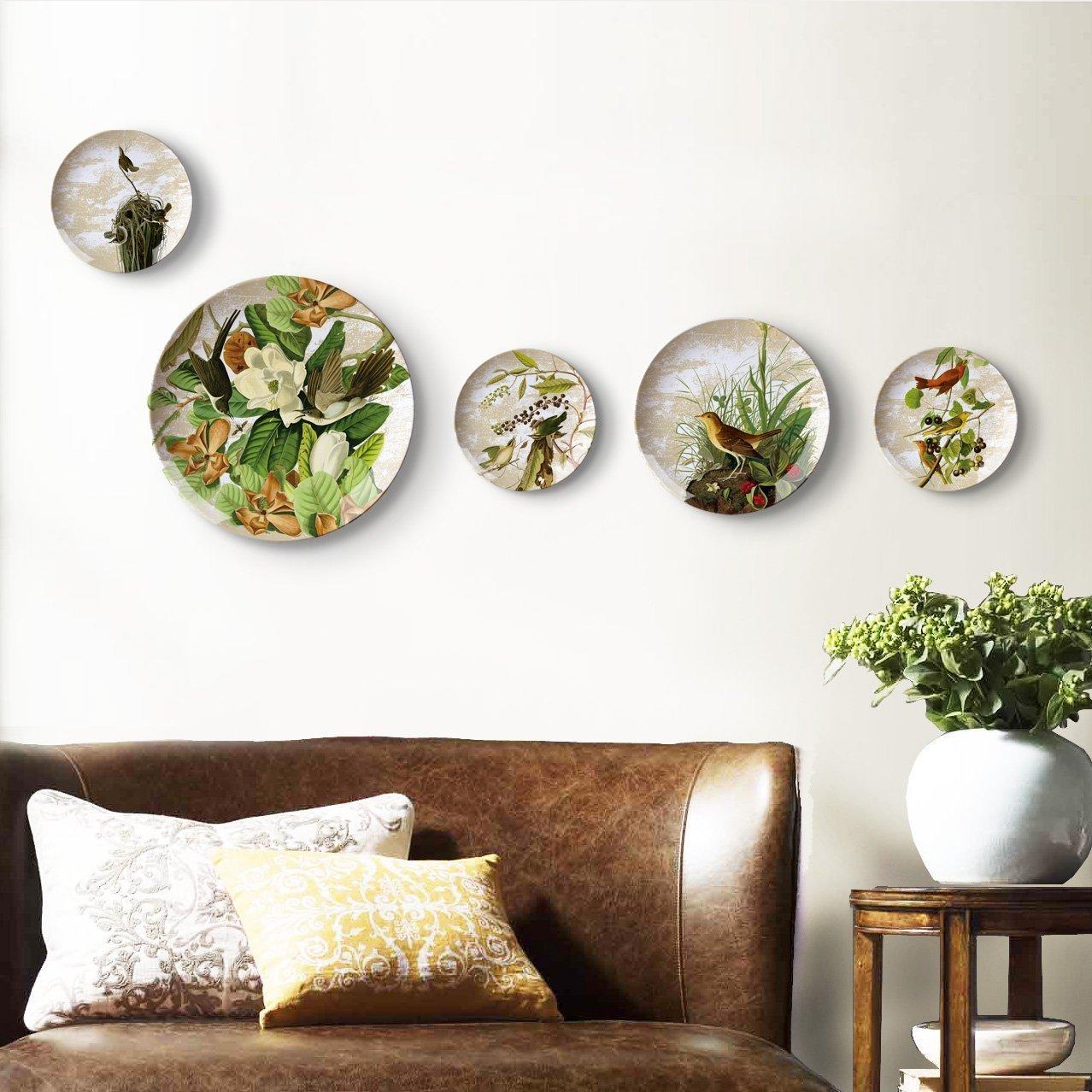Как разместить тарелки на стене фото