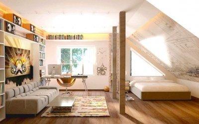Детская комната на мансарде +50 фото интерьера и примеров дизайна