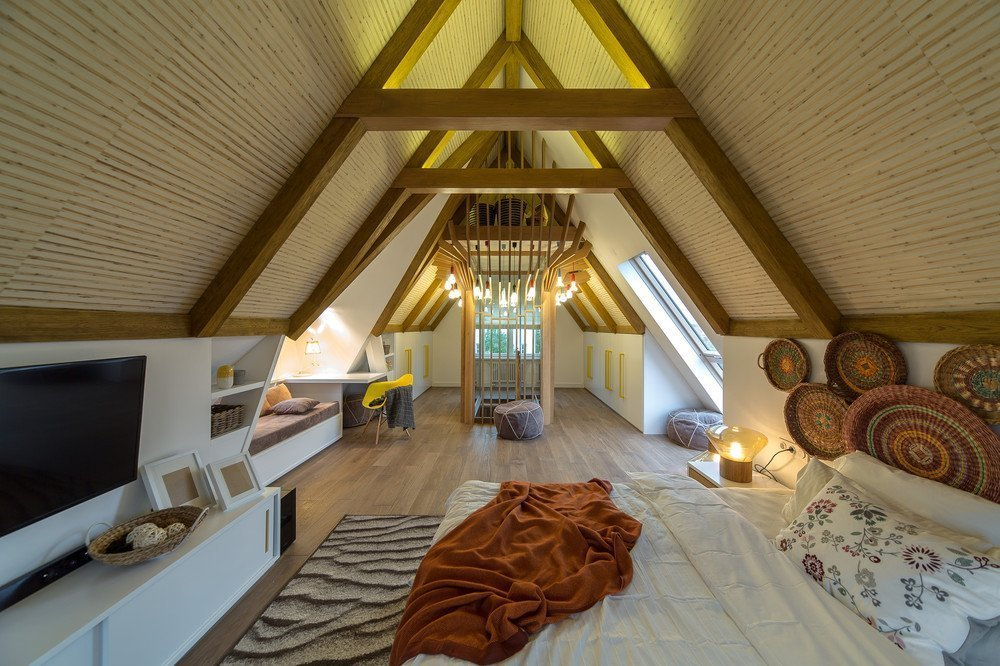 Attic lighting of a private house