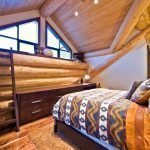 Bedroom design with logs