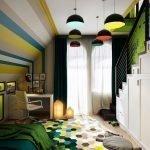 Яркие люстры на потолке