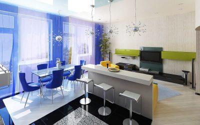 Дизайн интерьера гостиной-столовой: 75 фото идей