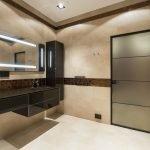 Классический декор ванной в коричневом цвете