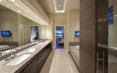 Дизайн коричневой ванной комнаты +75 фото идей