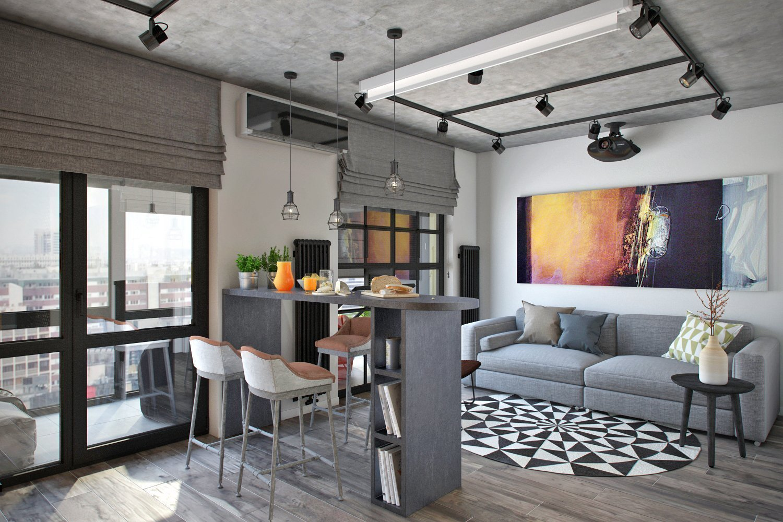 Монохромный дизайн комнаты