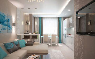 Дизайн совмещенной кухни-гостиной 18 кв. м +50 фото