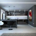 Кухня в стиле минимализм в квартире