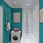 Стиральная машинка у ванны