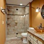 Горчичный цвет в ванной