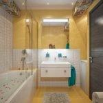 Песочные стены в ванной