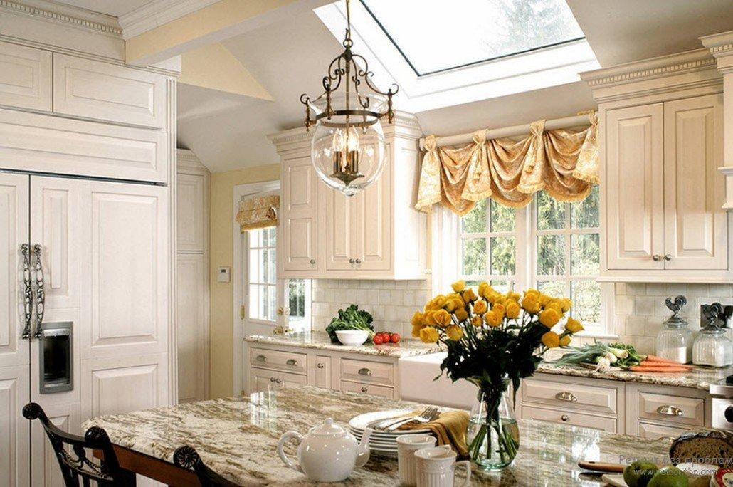 Декорирование окон на кухне