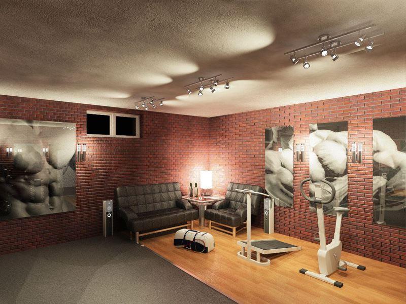 Тренажерный зал в подвале