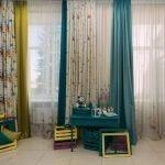 Длинные шторы в детской