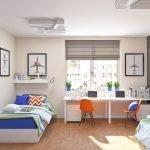 Простой интерьер комнаты для мальчиков