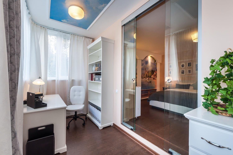 конкурсе однокомнатные квартиры дизайн фото с балконом подобного элемента декора