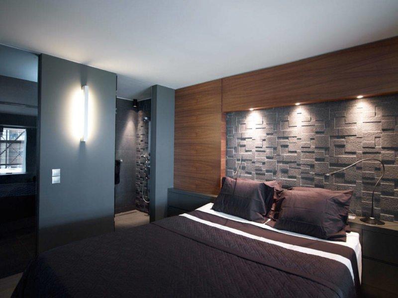 Интерьер в стиле модерн спальни в хрущевке