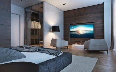 Дизайн спальни в стиле хай тек +75 фото интерьера