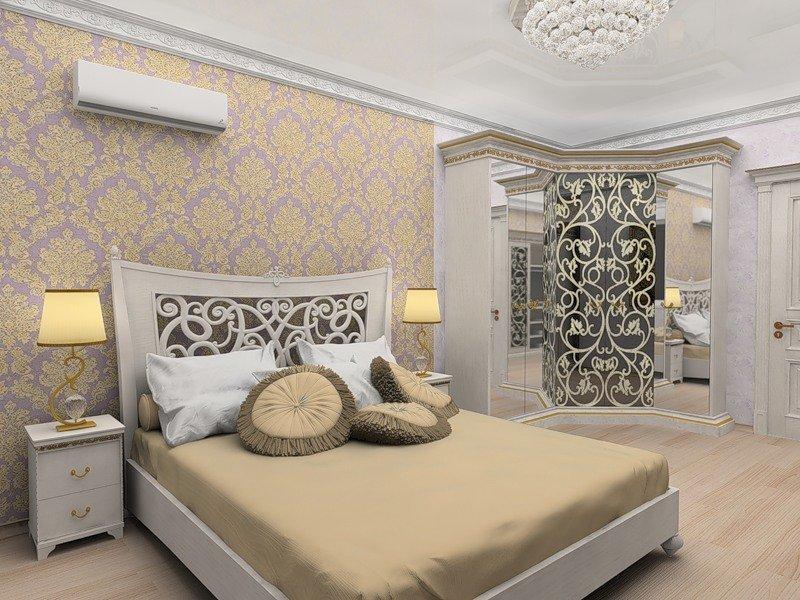 Роскошный декор спальни
