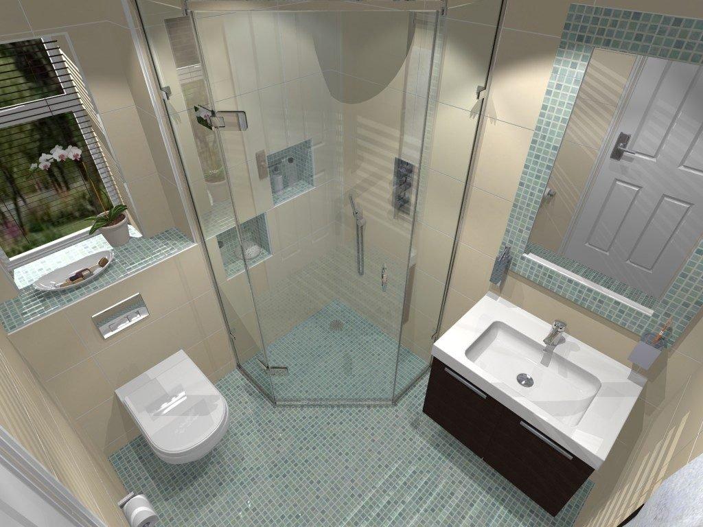 Компактная ванная комната в квартире