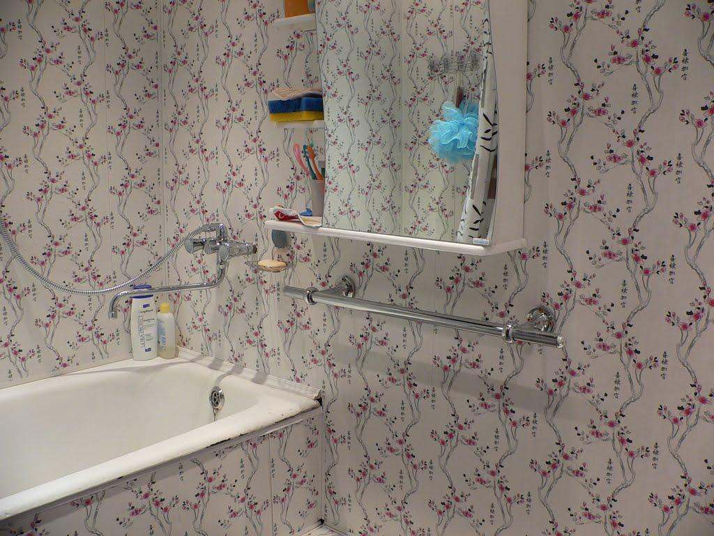 Панели в интерьере ванной