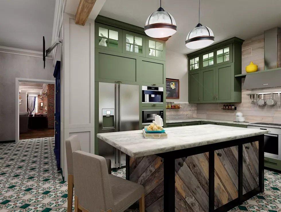 кухни в стиле эклектика фото двухвековую