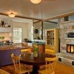 Каменная печь на кухне