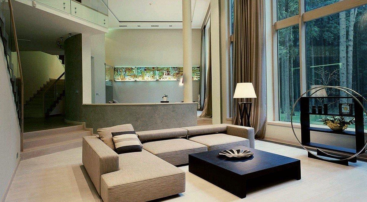 Светлая мебель в интерьере в стиле конструктивизм