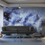 Космическая мозаика на стене