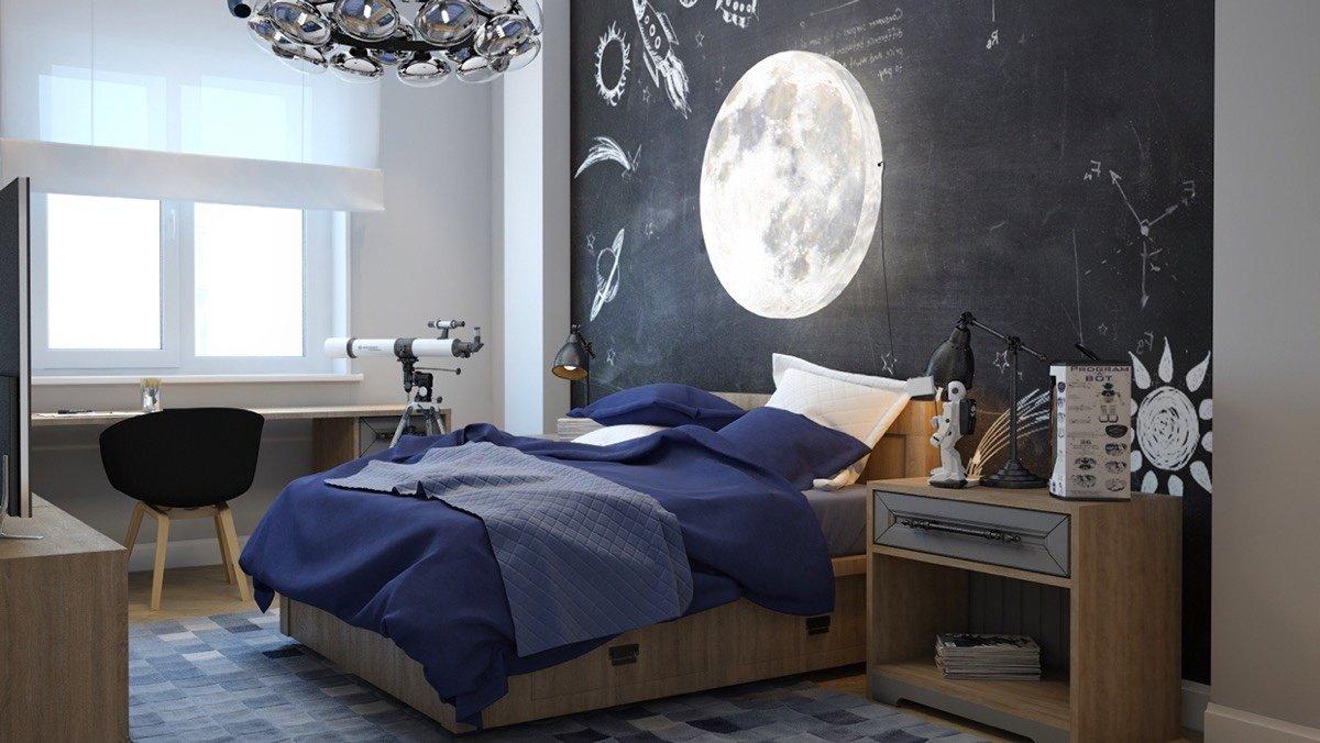 Спальня для мальчика в комическом стиле