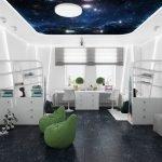 Стильный декор комнаты в стиле футуризма