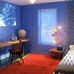 Синий декор комнаты