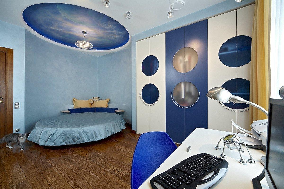 Спальня в стиле галактики
