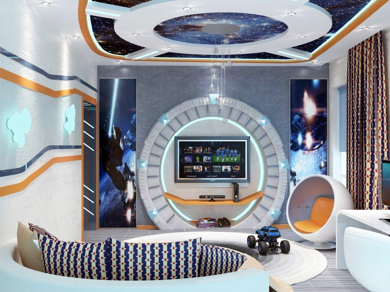 Зал в стиле космического шаттла