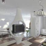 Квартира-студия в космическом стиле