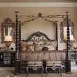 Кровать в стиле средневековья